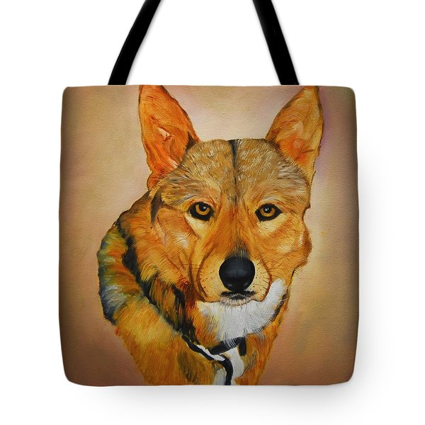 Tote Bag featuring the painting Zavious by Quwatha Valentine
