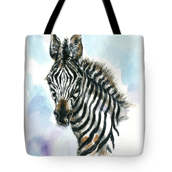 Zebra 1 Tote Bag by Mary Armstrong