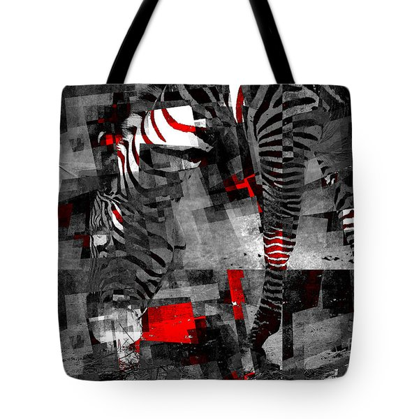 Zebra Art - 56a Tote Bag by Variance Collections