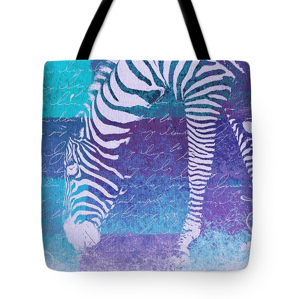 Zebra Art - Bp02t01 Tote Bag by Variance Collections