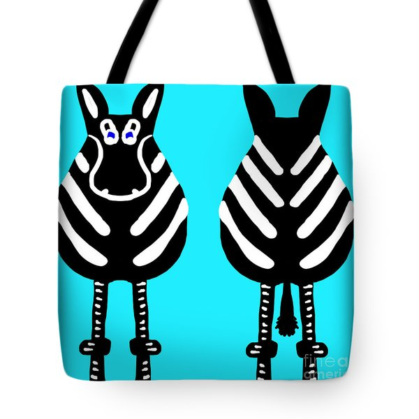 Zebra - Both Ends Tote Bag