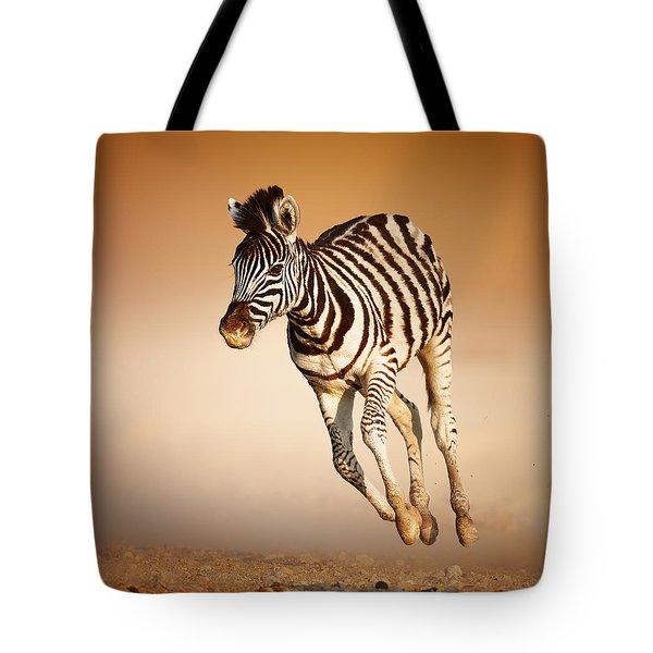 Zebra Calf Running Tote Bag