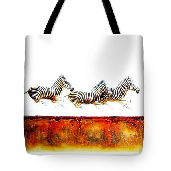 Zebra Crossing - Original Artwork Tote Bag