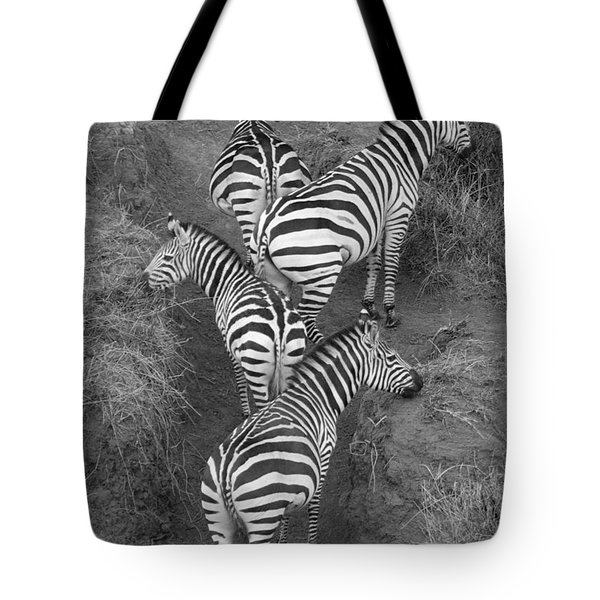 Zebra Design Tote Bag by Carol Walker