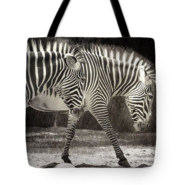 Zebra Tote Bag by Diane Dugas