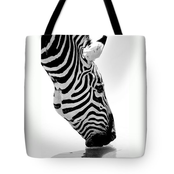 Zebra Tote Bag by Elizabeth Budd