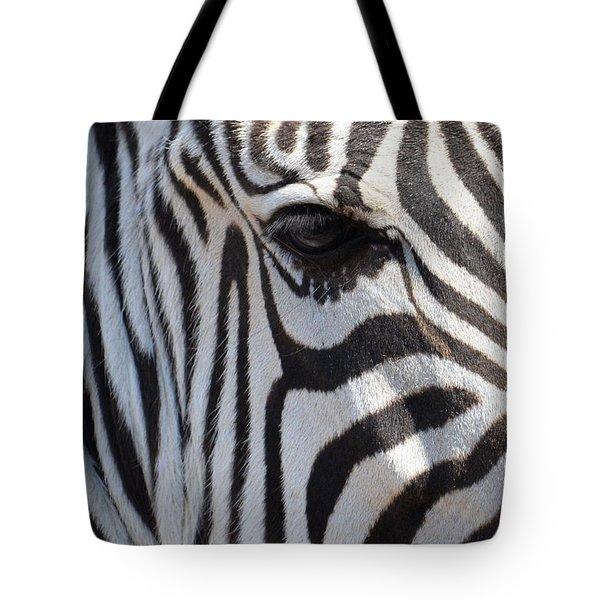 Zebra Eye Abstract Tote Bag