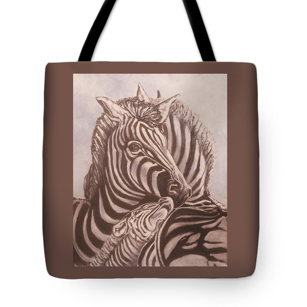 Zebra Family Tote Bag