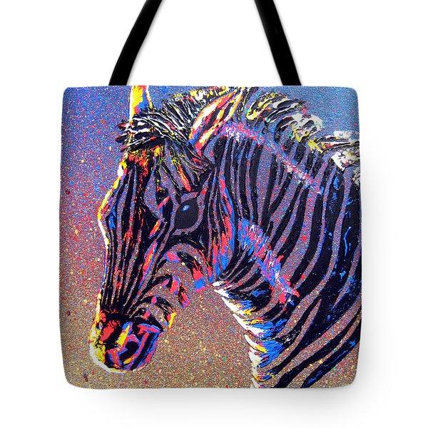 Zebra Fantasy Tote Bag by Mayhem Mediums
