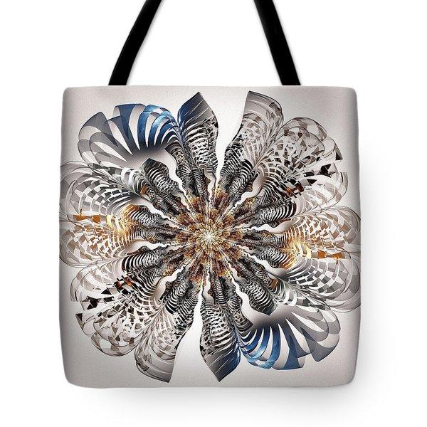Zebra Flower Tote Bag by Anastasiya Malakhova