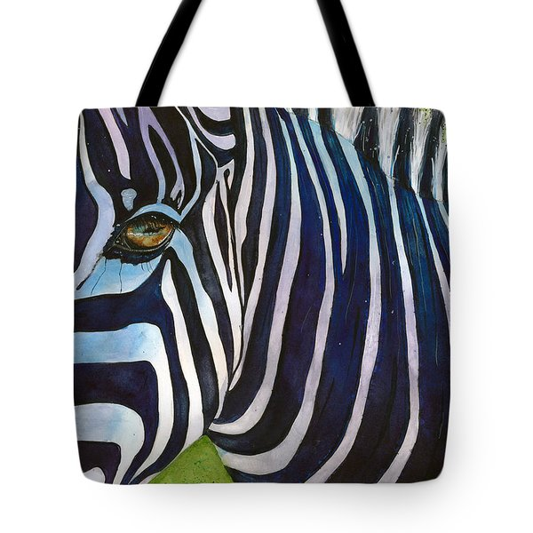Zebra Zones Out Tote Bag