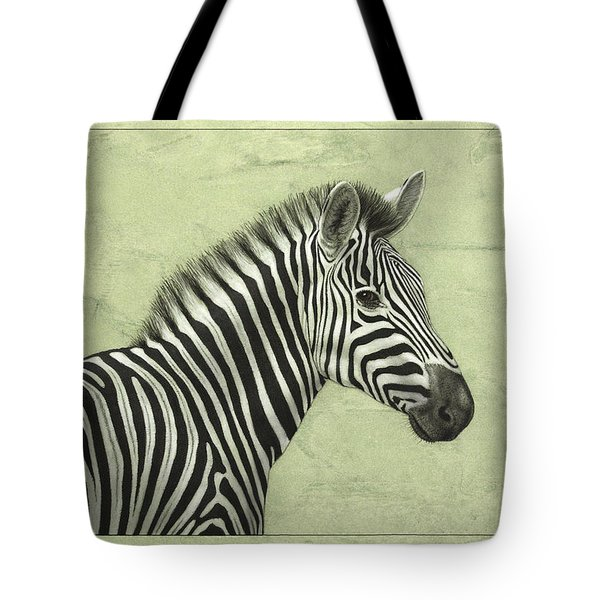 Zebra Tote Bag by James W Johnson