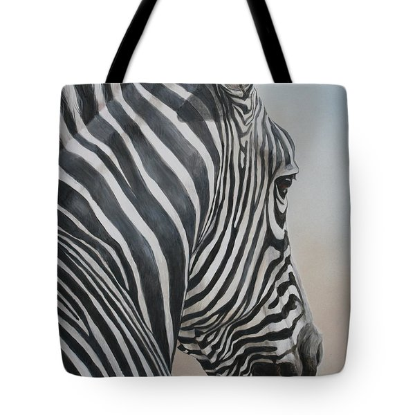 Zebra Look Tote Bag