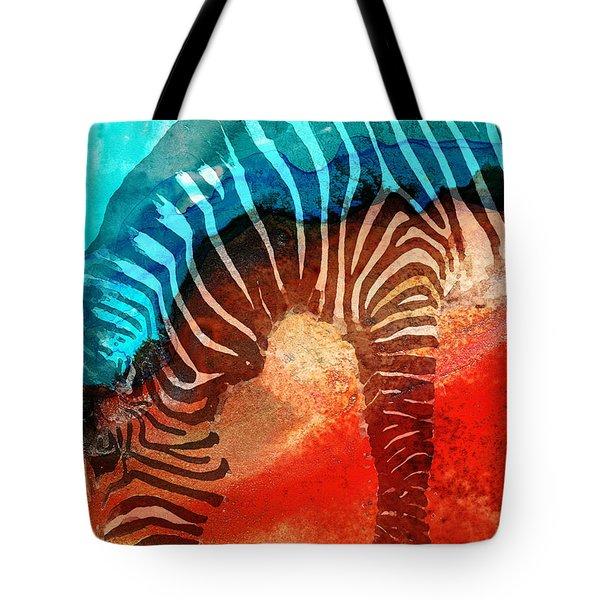Zebra Love - Art By Sharon Cummings Tote Bag