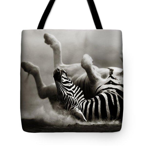 Zebra Rolling Tote Bag