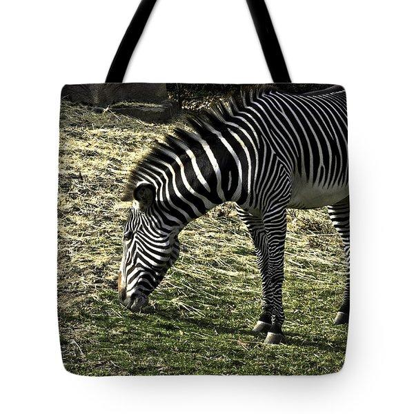 Zebra Striped Fourlegger Tote Bag by LeeAnn McLaneGoetz McLaneGoetzStudioLLCcom