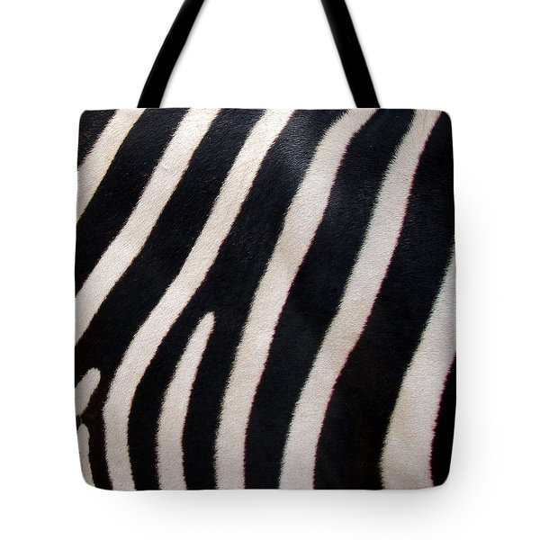 Tote Bag featuring the photograph Zebra Stripes by Ramona Johnston