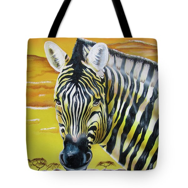 Tote Bag featuring the painting As Day As Night by Thomas J Herring