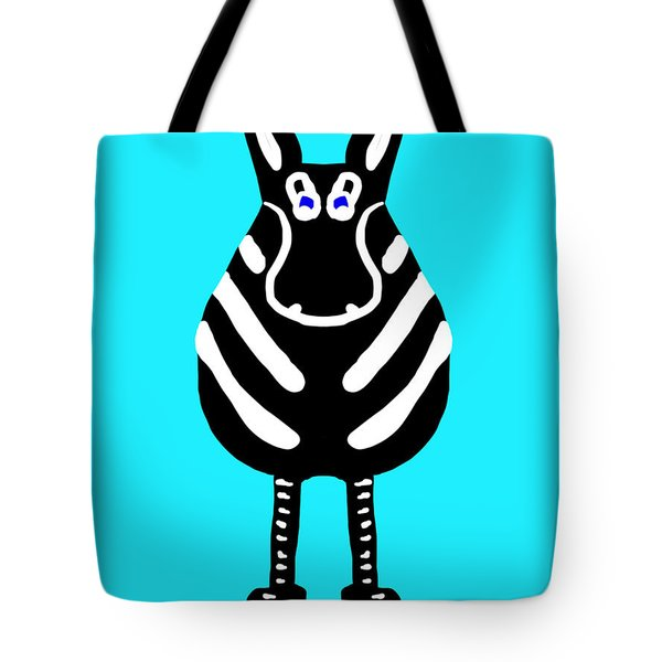 Zebra - The Front View Tote Bag