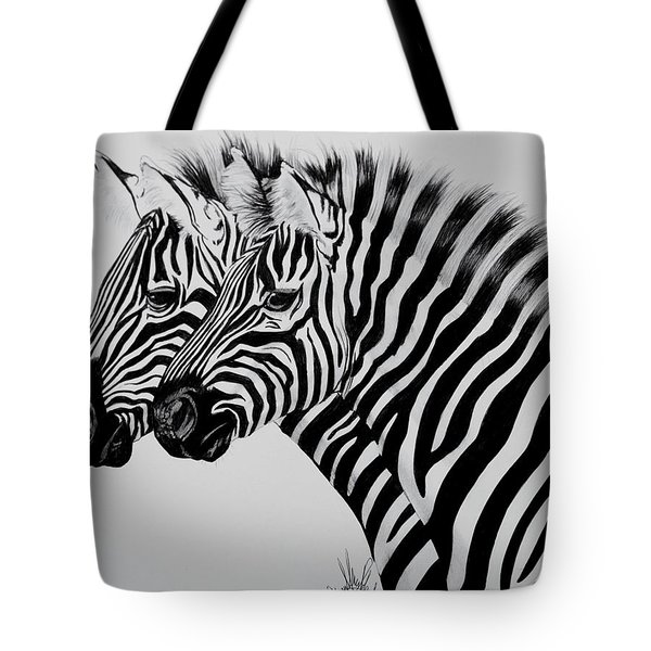 Zebra Twins Tote Bag