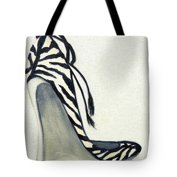 Tote Bag featuring the painting Zebra Wedges by Shelia Kempf