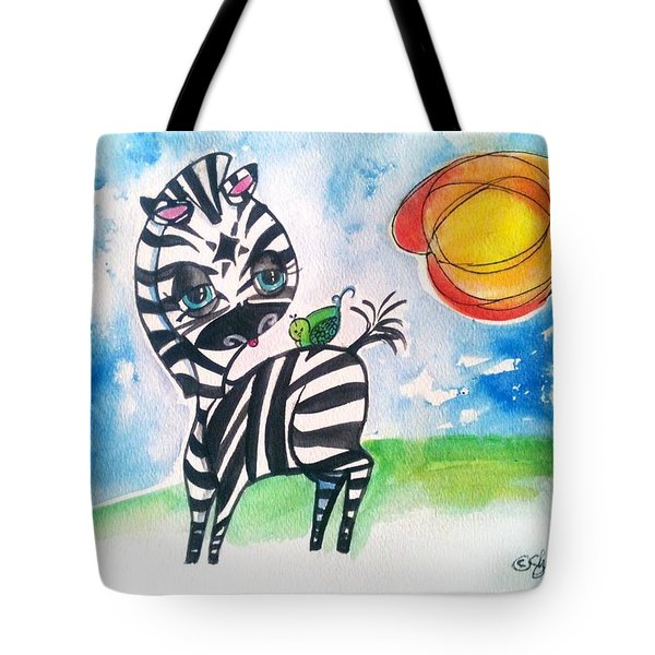 Zebra Zee  Tote Bag
