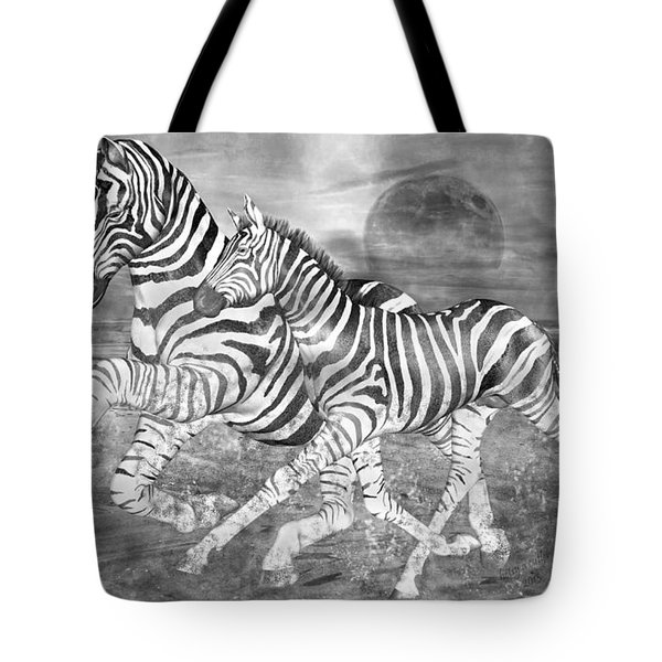 Zebras I Of II Tote Bag