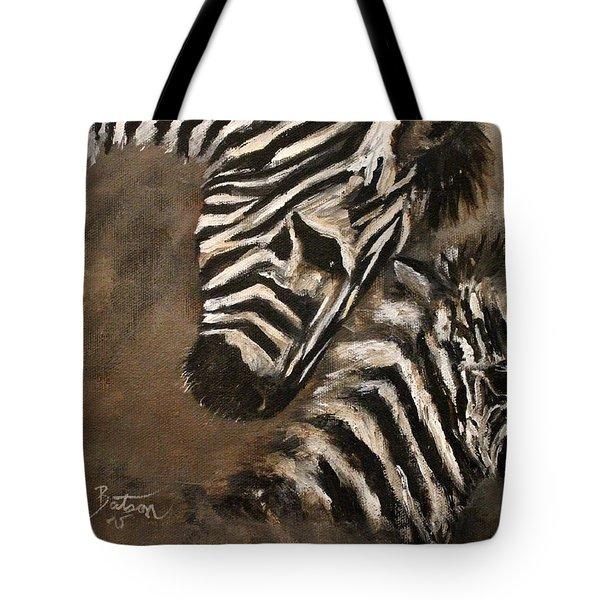 Zebras Love From Above Tote Bag