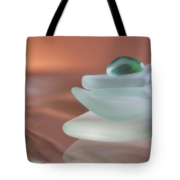 Zen Beach Glass Tote Bag