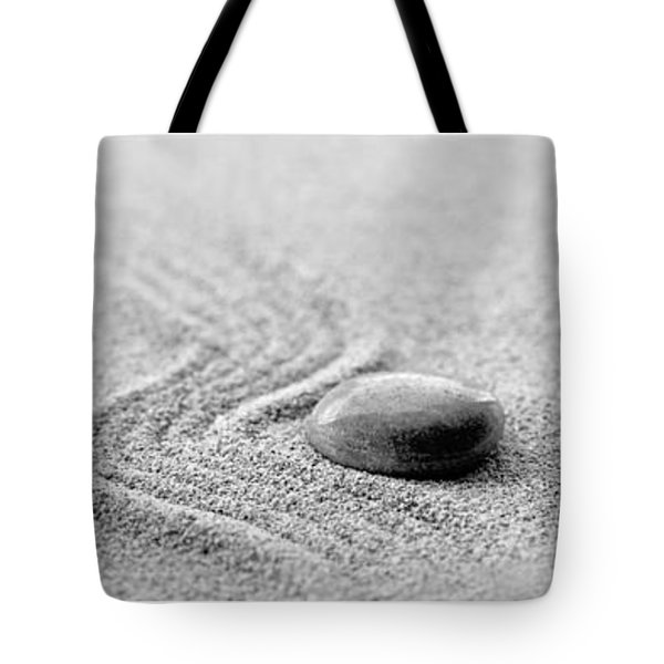 Zen Black And White Triptych Tote Bag