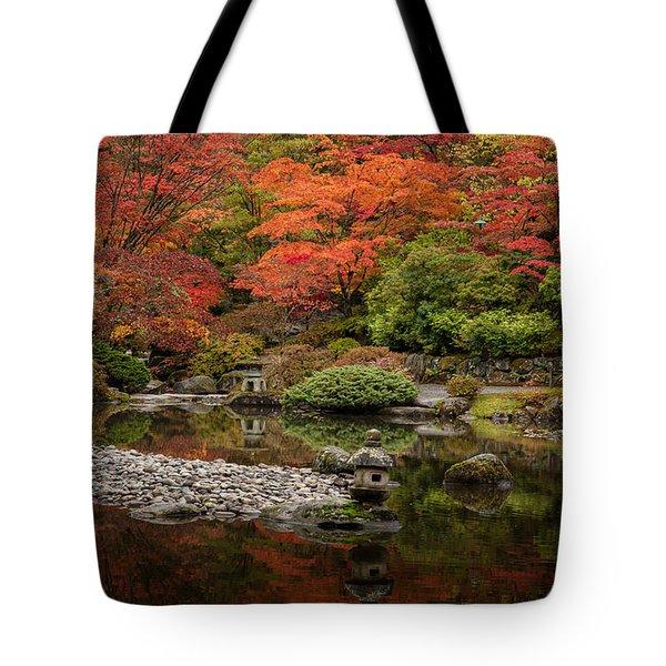 Zen Foliage Colors Tote Bag by Mike Reid