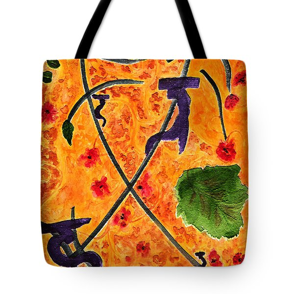 Tote Bag featuring the painting Zen Garden by Paula Ayers