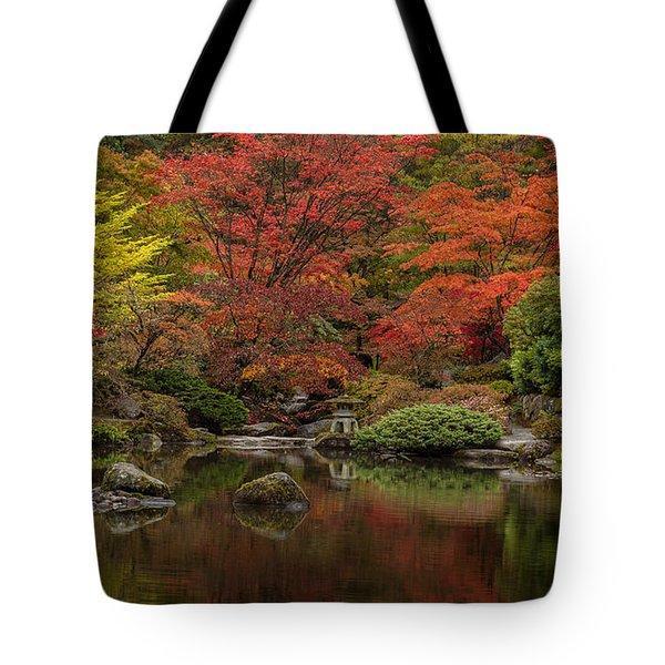 Zen Garden Reflected Tote Bag