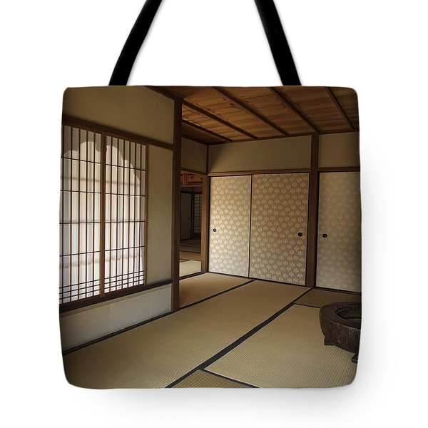 Zen Meditation Room And Katomado Window - Kyoto Japan Tote Bag