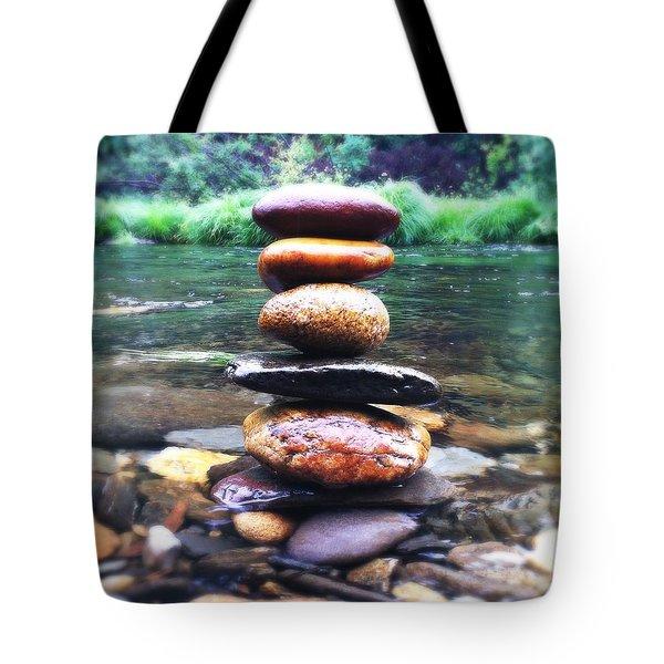 Zen Stones II Tote Bag by Marco Oliveira