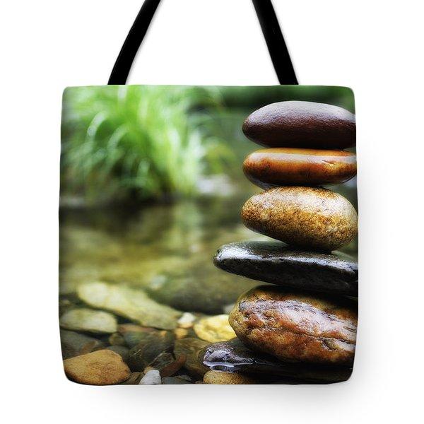 Zen Stones Tote Bag by Marco Oliveira