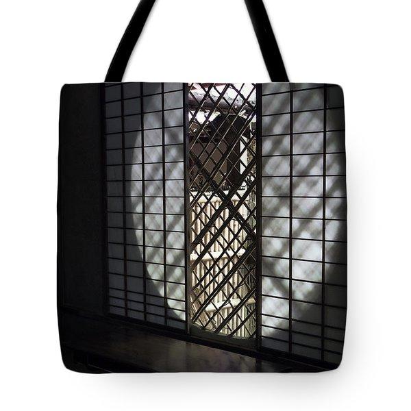 Zen Temple Window - Kyoto Tote Bag by Daniel Hagerman