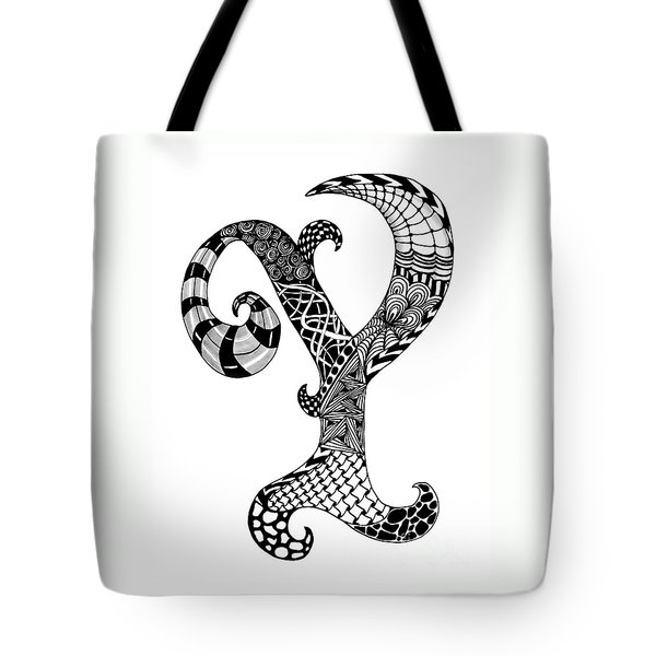 Letter Y Monogram Tote Bag by Nan Wright