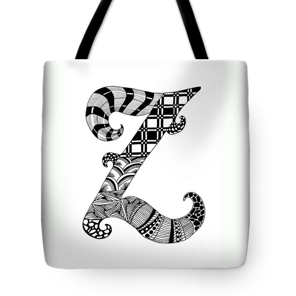 Letter Z Monogram Tote Bag by Nan Wright