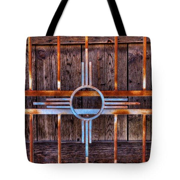 Zia Sun Symbol Gate Tote Bag by David Patterson