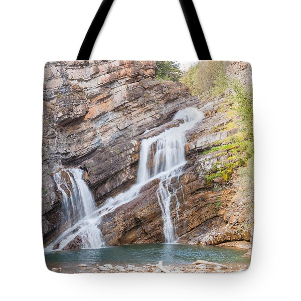 Tote Bag featuring the photograph Zigzag Waterfall by John M Bailey