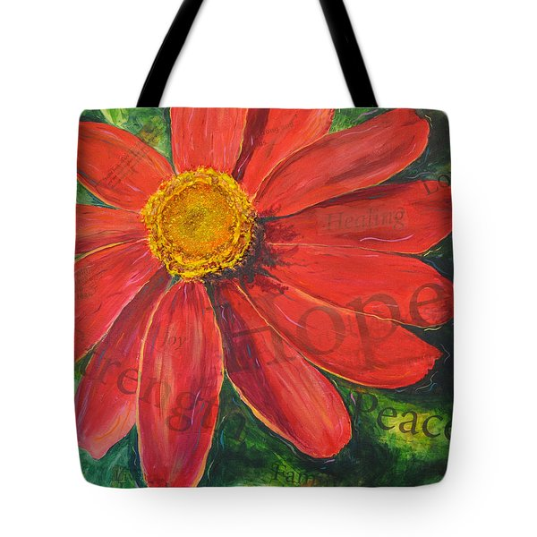 Zinnia Of Hope Tote Bag
