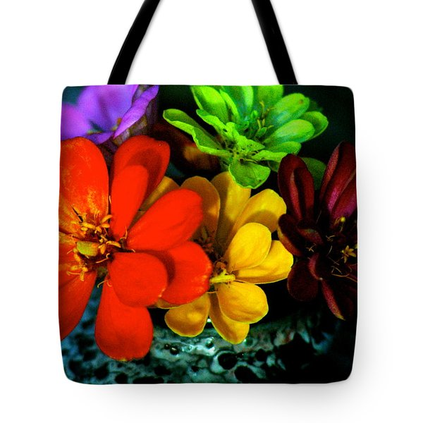 Zinnias Tote Bag by Lehua Pekelo-Stearns