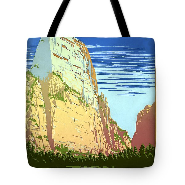 Zion National Park Ranger Naturalist Service  Tote Bag by Unknown