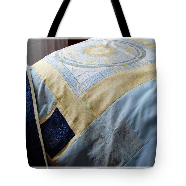 Zodiac Patchwork Quilt Tote Bag by Barbara Griffin