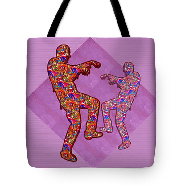 Zombie Funny Comic Cartoons Dance Zombie Dance Grand   36x12 Horizontal Landscape Energy Graphics Ba Tote Bag