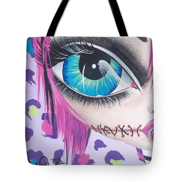 Zombie Punk Tote Bag by Lizzy Love of Oddball Art Co