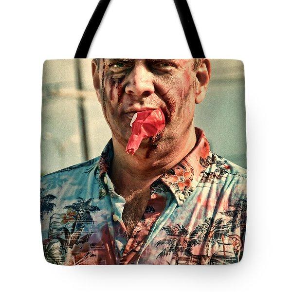 Zombie Run Nola 21 Tote Bag by Kathleen K Parker
