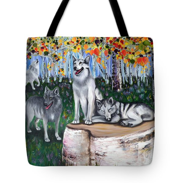 Zorros Wolves Amid The Aspens Tote Bag