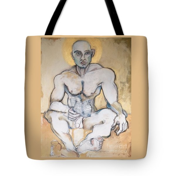 Tote Bag featuring the painting The Poet by Carolyn Weltman